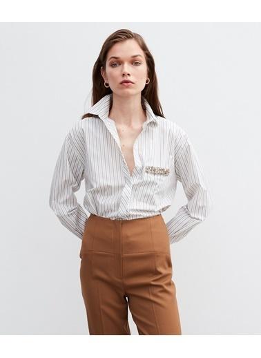 Ipekyol Kadın  Gömlek IW620002507801 Beyaz